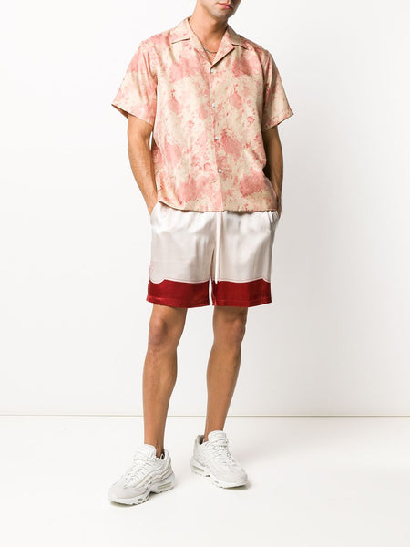 Shell-Print Drawstring Shorts
