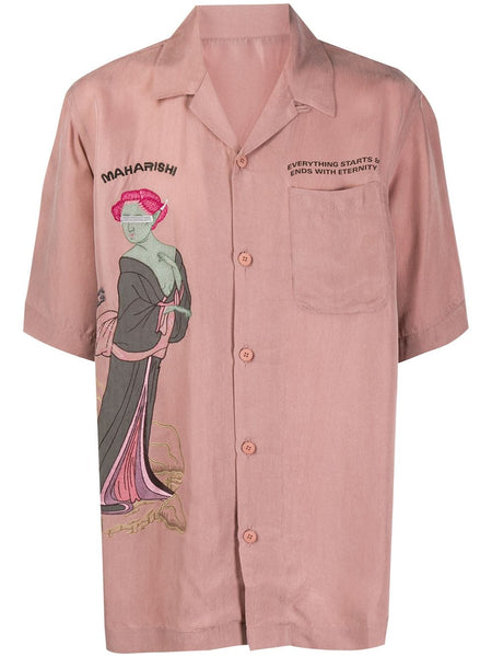 Space Geisha Embroidered Shirt