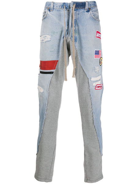 Contrasting Panel Jogger Jeans