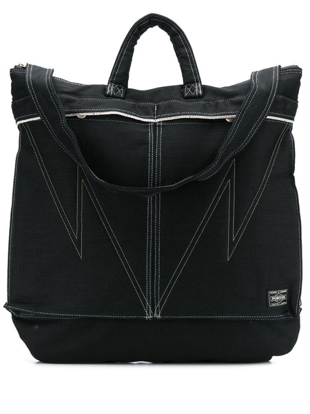 Denim Zipped Tote Bag