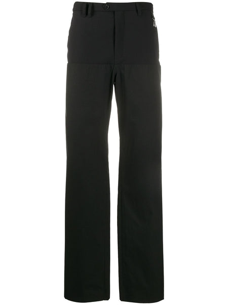 Brace Clip Wide-Leg Trousers