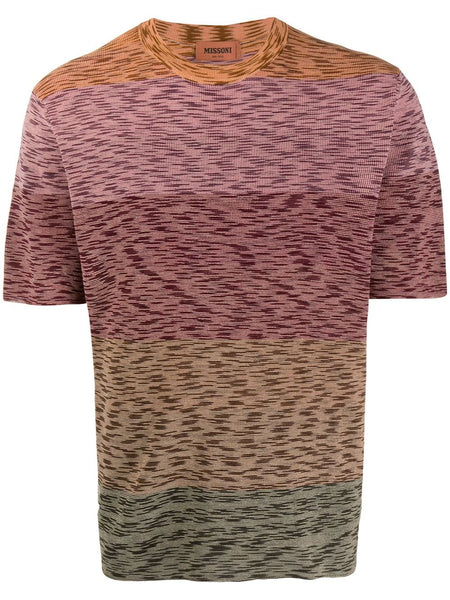 Abstract Pattern Knit T-Shirt