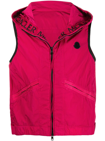 Hooded Zip-Up Gilet