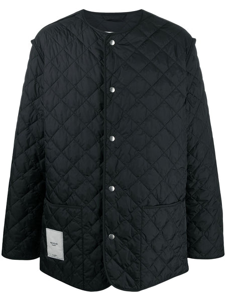 Diamond Quilt Buttoned Jacket