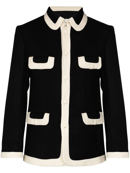 Tailored Virgin Wool-Blend Jacket