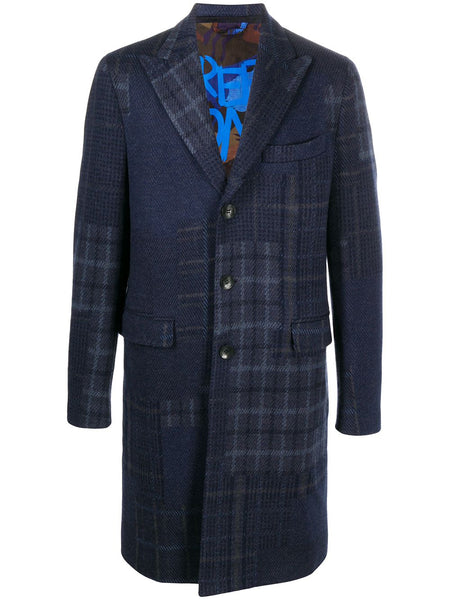 Plaid Single-Breasted Coat