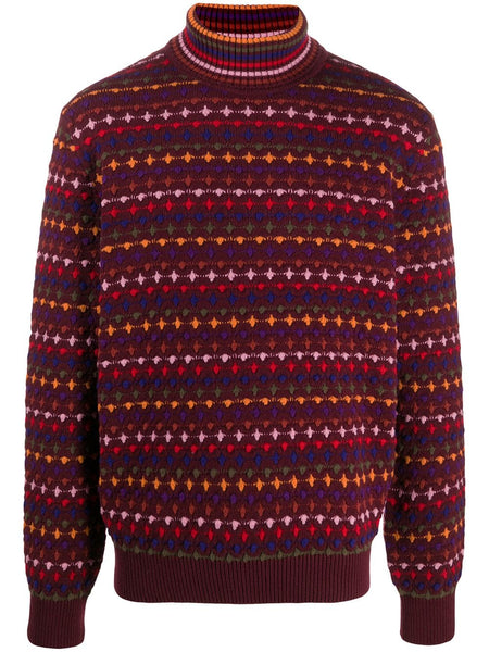 Embroidered Roll Neck Jumper