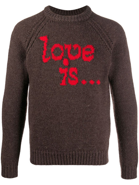 Brown Knit Love Is