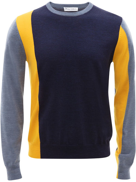 Colour-Block Long-Sleeve Jumper