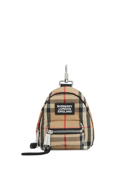 Vintage Check Backpack Key Charm