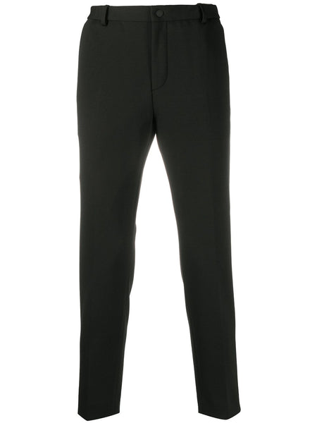 Mid-Rise Straight Leg Trousers