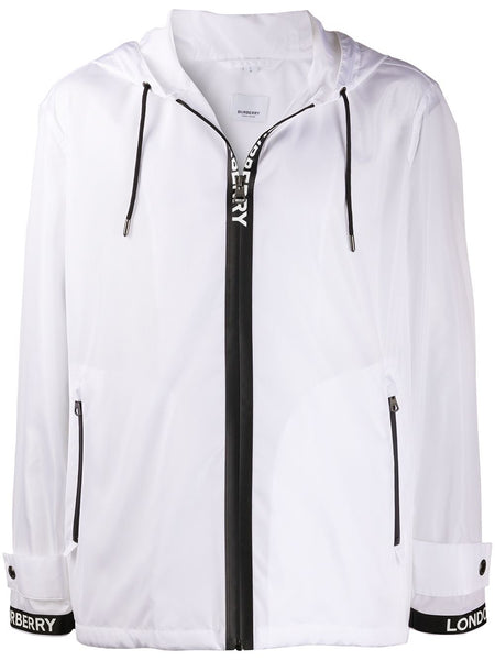 Optic White Logo Zip Jacket