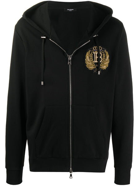 Gold Chest Embellishment Hoodie