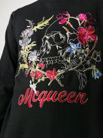 Embroidery Sweatshirt Black