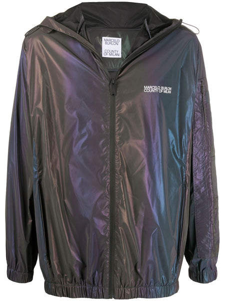 Iridescent Lightweight Hooded Jacket