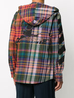 Check-Pattern Hooded Jacket
