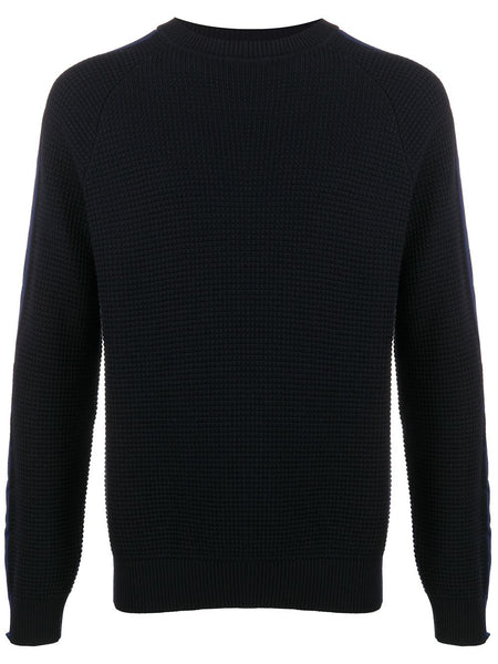 Side-Stripe Logo-Patch Jumper