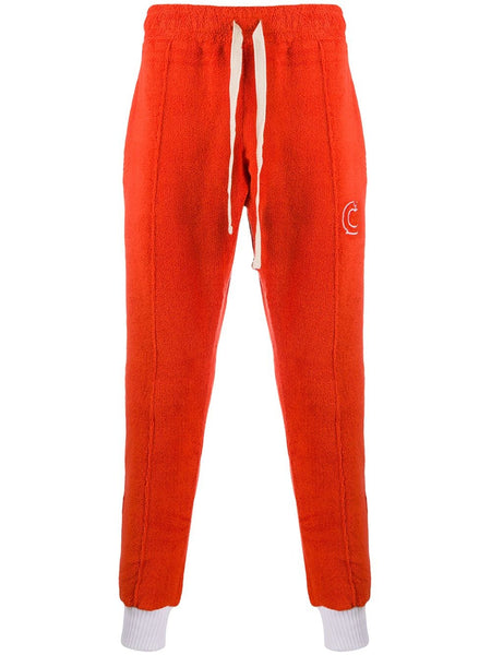 Terry Fleecy Cotton Track Pants