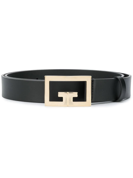 Logo-Plaque Leather Belt