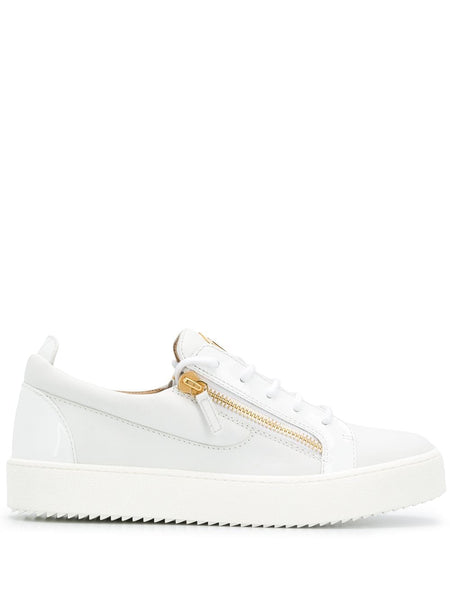 Zip Detail Low-Top Sneakers