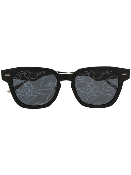 Lens-Decal Square Sunglasses