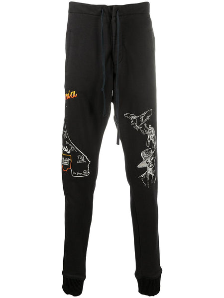 Tapered Embroidered Logo Sweatpants