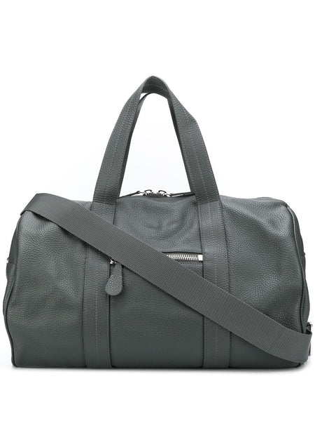 Leather Barrel Holdall