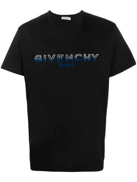 Gradient Flocked Logo T-Shirt