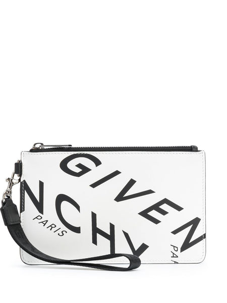 Refracted Logo Print Clutch