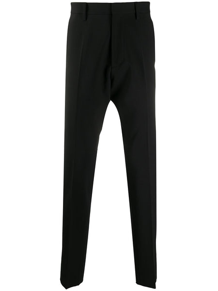 Straight-Leg Logo-Print Trousers