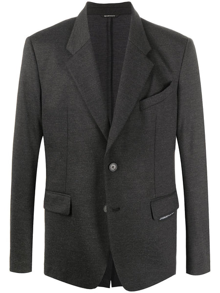 Charcoal Notch Lapels Blazer