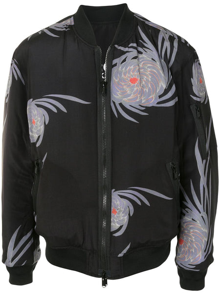 Floral Graphic Bomber Jacket