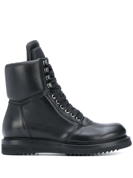 Perforated Military Boots