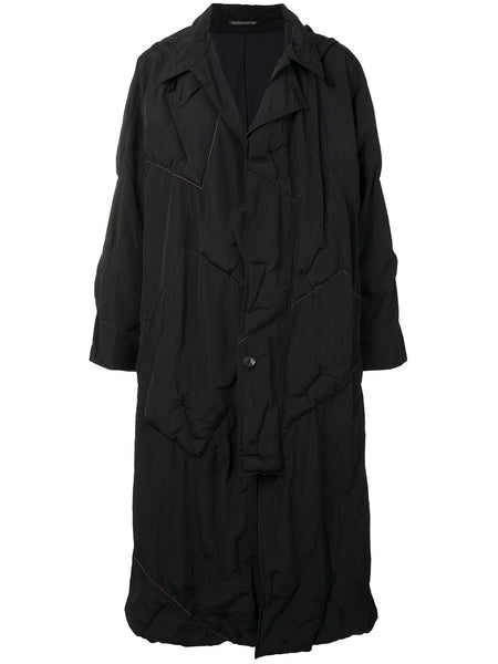 Ruched Long-Sleeve Coat