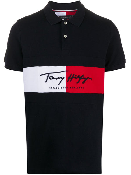 Colour-Block Signature Polo Shirt