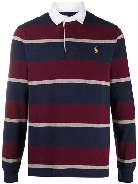 Striped Print Polo Shirt