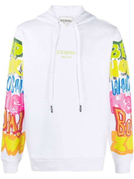 Graphic Print Cotton Hoodie