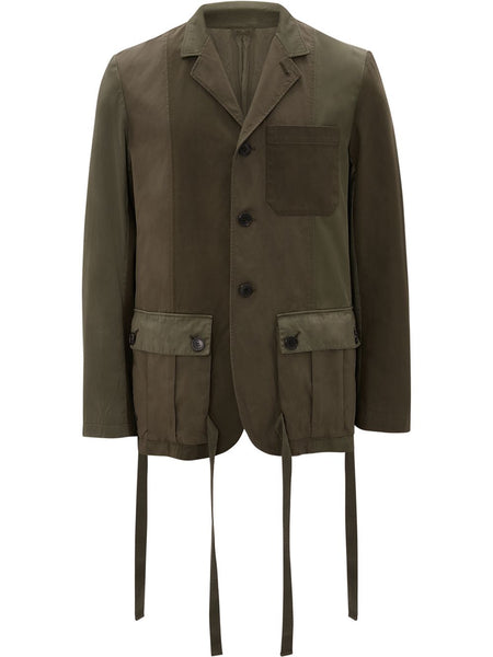 Tie-Pockets Panelled Jacket