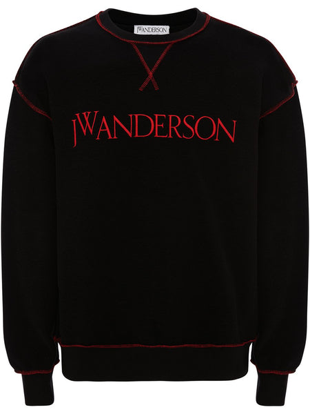 Embroidered Logo Cotton Sweatshirt