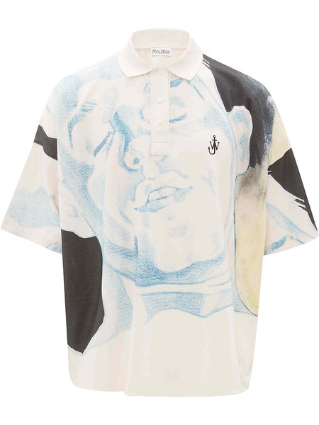 Face Print Polo Shirt