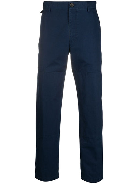 Cropped Length Cotton Trousers