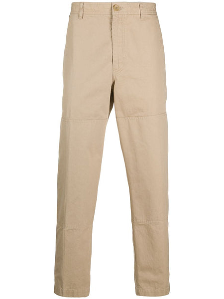 Beige Cotton Chino Trousers