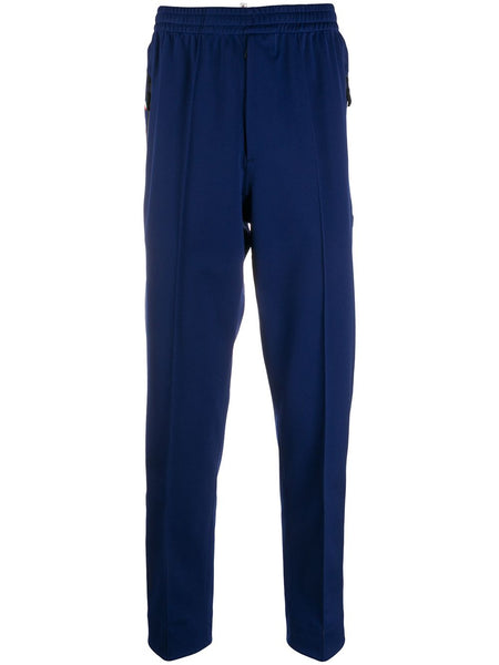 Tapered Piped-Trim Track Pants