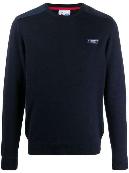 Panelled Logo Pullover