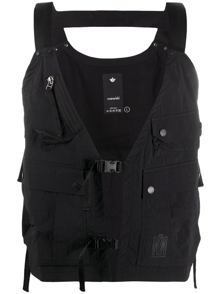 Multi-Pocket Buckled Vest