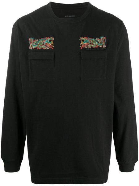 Embroidered Dragon Sweatshirt