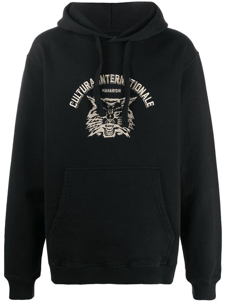 Cultura Cat Embroidered Hoodie