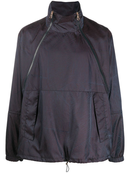 Funnel Neck Windbreaker Jacket