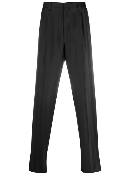 Shadow-Stripe Tailored Trousers
