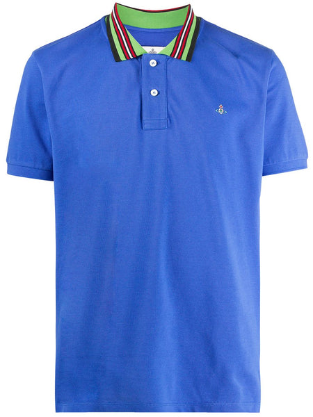 Stripe-Trim Cotton Polo Shirt
